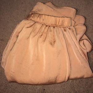 Rust / rose gold maxi skirt